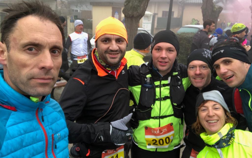 Premier trail de l'année à Pechbonnieu pour les Fortiches !